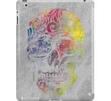 Swirly Skull (Color) iPad Case/Skin