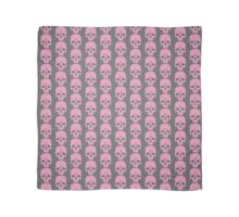 Pink Ouija Skull on Grey Background Scarf