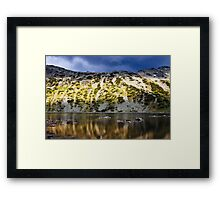 reflection in mountain lake Framed Print
