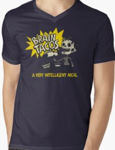 Brain Tacos Mens V-Neck T-Shirt