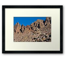 Mount Sneffels Spires and a Helping Rock Pile Framed Print