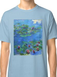 Claude Monet - Red Water-Lilies Classic T-Shirt