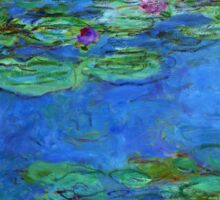 Claude Monet - Red Water-Lilies Sticker