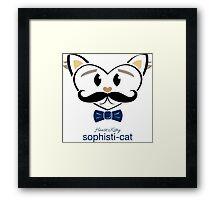 HeartKitty Sophisti-ticat Framed Print