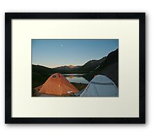 Camping out in the Tundra of Summit County Framed Print