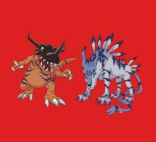 Digimon : Greymon - Garurumon One Piece - Short Sleeve