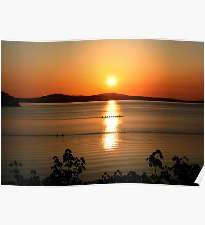 Sunset from Mill Bay........ Poster