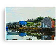 Prospect Bay, Nova Scotia Canvas Print