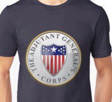Adjutant General's Corps - AG Corps Branch Insignia over Blue Velvet Unisex T-Shirt