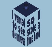 TARDIS Stole A Time Lord One Piece - Short Sleeve