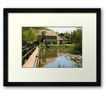 Throop Mill Reflections Framed Print