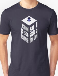 TARDIS Stole A Time Lord Inverse T-Shirt