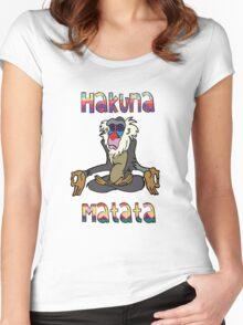 Yoga Rafiki - Hakuna Matata Women's Fitted Scoop T-Shirt