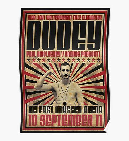 Dudey v Prescott Retro Poster Poster
