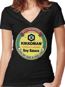 Soy Sauce Women's Fitted V-Neck T-Shirt