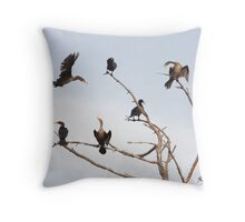 Cormorant Roost Throw Pillow