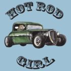 Hot Rod Girl Tee by Lee Twigger