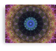 The Dark Forest II - Blue, Green, Purple Kaleidoscope Canvas Print