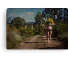 sneaking outside of time Canvas Print