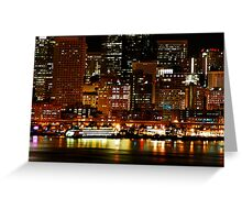 Night Lights of Seattle Greeting Card