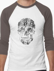 Swirly Skull Men's Baseball ¾ T-Shirt
