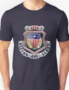 Adjutant General's Corps - AG Corps Regimental Insignia over Blue Velvet T-Shirt