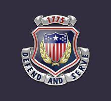 Adjutant General's Corps - AG Corps Regimental Insignia over Blue Velvet Unisex T-Shirt