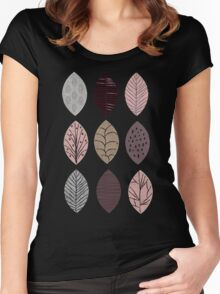 Nature Inspired Leaves  Women's Fitted Scoop T-Shirt