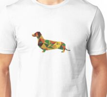 Dachshund - geometric Wiener! Unisex T-Shirt