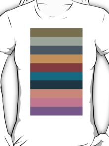 color stripes in colorful pastel T-Shirt