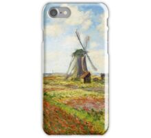 Claude Monet - A Field of Tulips in Holland iPhone Case/Skin