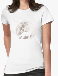 Howling Wolf Womens Fitted T-Shirt