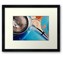 Rusted Blue  Framed Print
