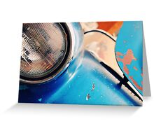 Rusted Blue  Greeting Card