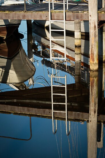 Reflections in Saugatuck - 1 by Robert Kelch, M.D.