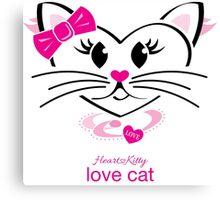 HeartKitty Love-Cat Canvas Print