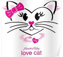 HeartKitty Love-Cat Poster
