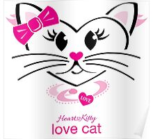 HeartKitty Love-Cat Poster