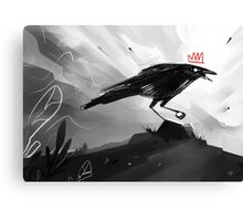 The Crow King II Canvas Print