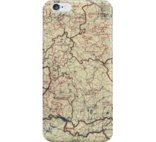 World War II Twelfth Army Group Situation Map July 24 1945 iPhone Case/Skin