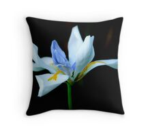 Open Orchid Throw Pillow