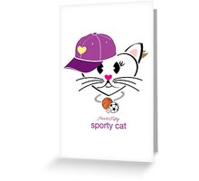 HeartKitty Sporty Cat Greeting Card