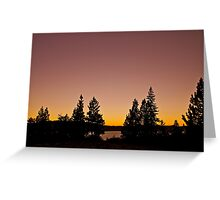 Pink Sunset.....Photographers Delight!  Greeting Card