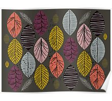Nature Leaves by Seasons Poster