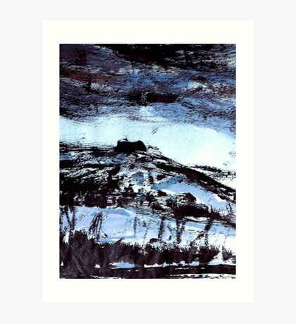 blue tinged snow.... winter scene Art Print