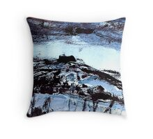 blue tinged snow.... winter scene Throw Pillow
