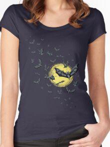Bat Swarm (Shirt) Women's Fitted Scoop T-Shirt