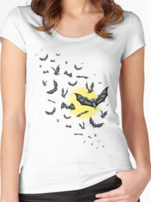 Bat Swarm (Shirt) Women's Fitted Scoop T-Shirt