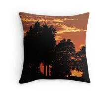 Sunset Northeast Oklahoma 8-30-11 Throw Pillow