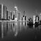 Brisbane River and City at dawn. Queensland, Australia. (B&amp;W) by Ralph de Zilva